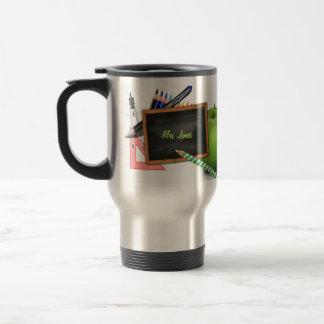La pizarra del profesor personalizado taza de viaje