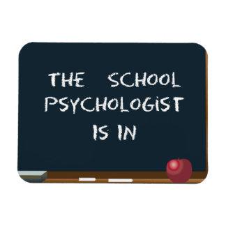 """La pizarra """"el psicólogo de la escuela está en"""" imán"""