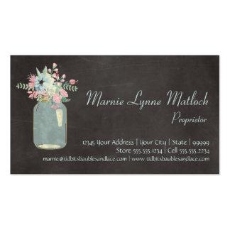 La pizarra florece floral moderno rústico del tarr tarjeta de visita