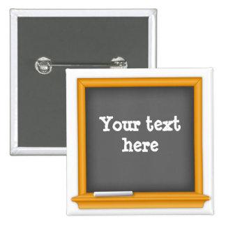 La pizarra, modifica su texto para requisitos pin cuadrada 5 cm