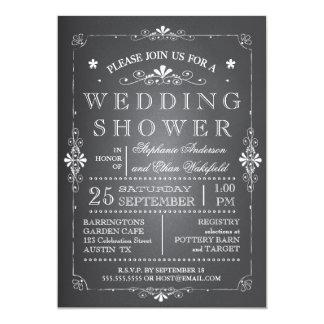 La pizarra preciosa junta la ducha del boda invitación 12,7 x 17,8 cm