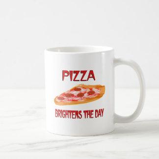 La pizza aclara el día taza básica blanca