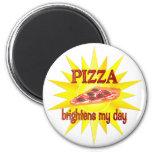 La pizza aclara imanes de nevera