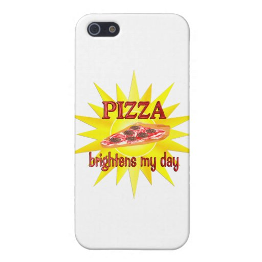 La pizza aclara iPhone 5 fundas