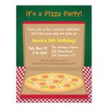 """La pizza colorida embroma a la fiesta de invitación 4.25"""" x 5.5"""""""