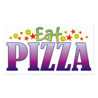 La pizza come tarjetas de visita