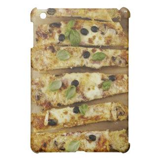 La pizza cortó en pedazos