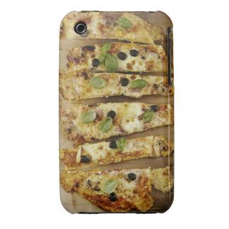 La pizza cortó en pedazos iPhone 3 Case-Mate protectores