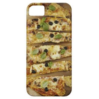La pizza cortó en pedazos iPhone 5 carcasa