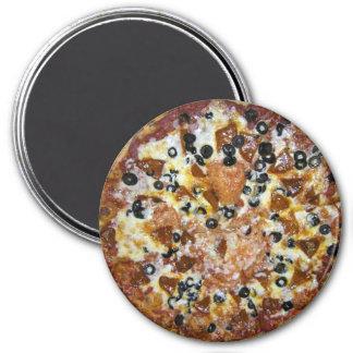 La pizza de los trabajos imán redondo 7 cm