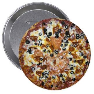 La pizza de los trabajos pin redondo 10 cm