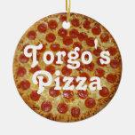 La pizza de Torgo Adorno Navideño Redondo De Cerámica