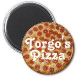 La pizza de Torgo Imanes De Nevera