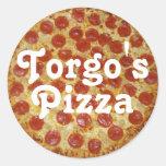 La pizza de Torgo Pegatinas Redondas