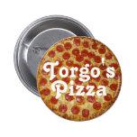 La pizza de Torgo Pin Redondo De 2 Pulgadas