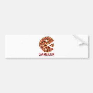 La pizza del canibalismo come la comida divertida pegatina para auto
