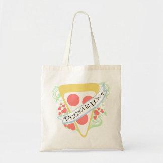 La pizza es amor bolsa tela barata
