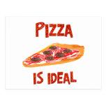 La pizza es ideal tarjeta postal