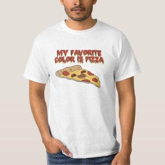 La pizza es mi camiseta preferida del color poleras