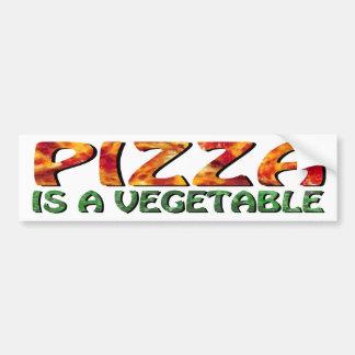 La pizza es pegatina para el parachoques vegetal pegatina para auto