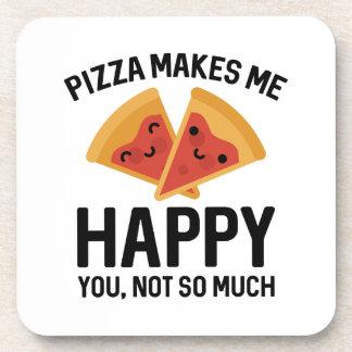La pizza me hace feliz posavasos