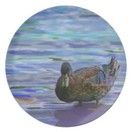 La placa de colector de Sr. Duck Plato Para Fiesta