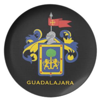La placa de colector del escudo de armas de plato de comida