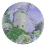 La placa de colector del molino de viento de Cape  Plato De Comida