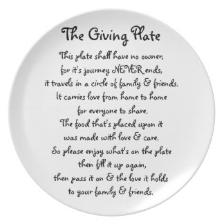 La placa de donante platos de comidas