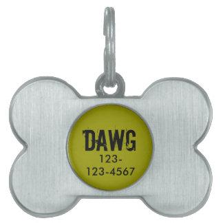 La placa de identificación personalizada de la placas de nombre de mascota