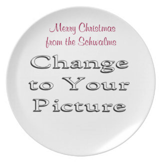 La placa de la foto del navidad añade su foto y pa plato para fiesta