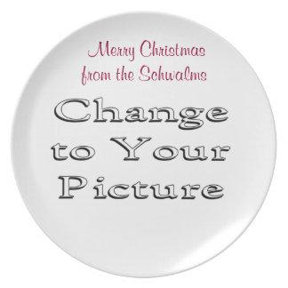 La placa de la foto del navidad añade su foto y pa platos de comidas