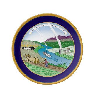 La placa de la porcelana del artesano del granjero platos de cerámica