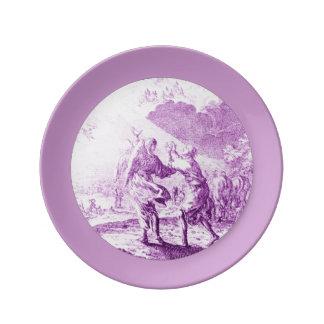 La placa de la porcelana del éxtasis plato de cerámica