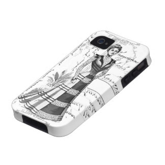 La placa de moda del Victorian iPhone 4/4S Carcasa