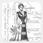 La placa de moda del Victorian Colcomanias Cuadradases