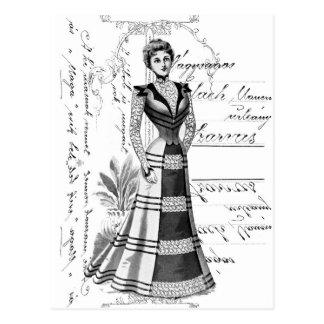 La placa de moda del Victorian Postales