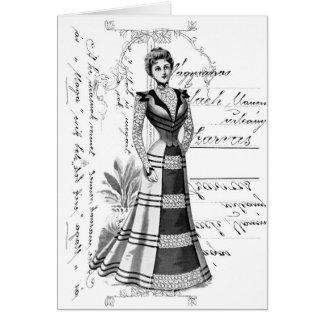 La placa de moda del Victorian Tarjeta Pequeña