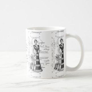 La placa de moda del Victorian Taza