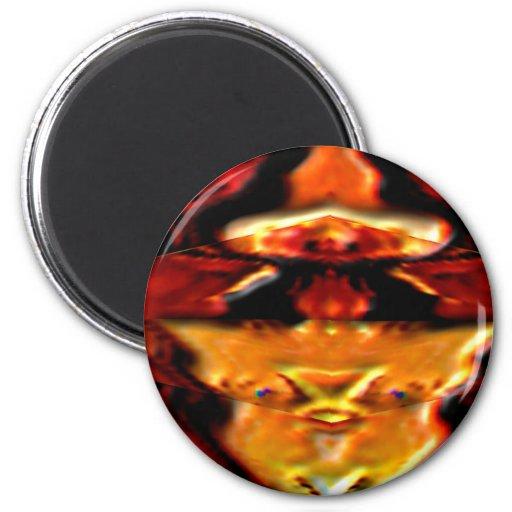 La placa de oro n del alcohol flamea - Reiki que c Imán Redondo 5 Cm