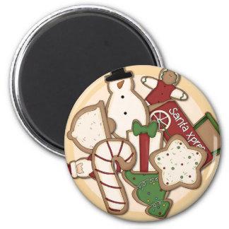 La placa de Santa de las galletas del pan de jengi Imán Redondo 5 Cm