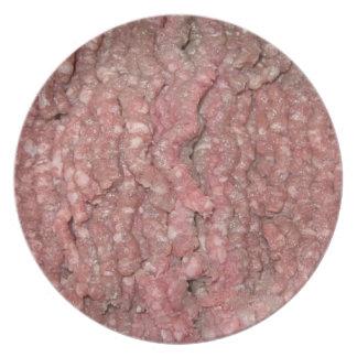 La placa del amante especial de la carne plato para fiesta