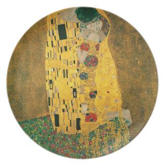 La placa del beso (Klimt) Plato Para Fiesta