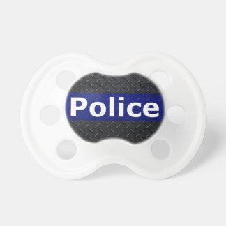 La placa del diamante de la policía enrarece Blue  Chupete De Bebé