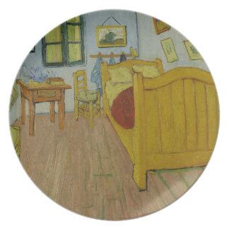 La placa del dormitorio plato para fiesta