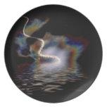 La placa del mar del arco iris platos de comidas