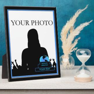 La placa más grande 8x10 azul del marco de la foto