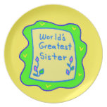 La placa más grande de la hermana del mundo platos para fiestas
