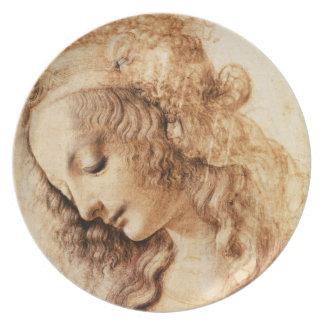 La placa principal de la mujer de da Vinci Plato