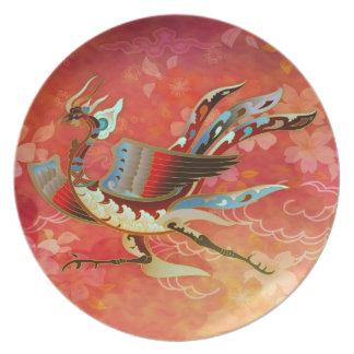 La placa roja de la emperatriz (vuelo de Phoenix) Platos De Comidas